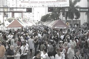 Miami Book Fair International book festival crowd