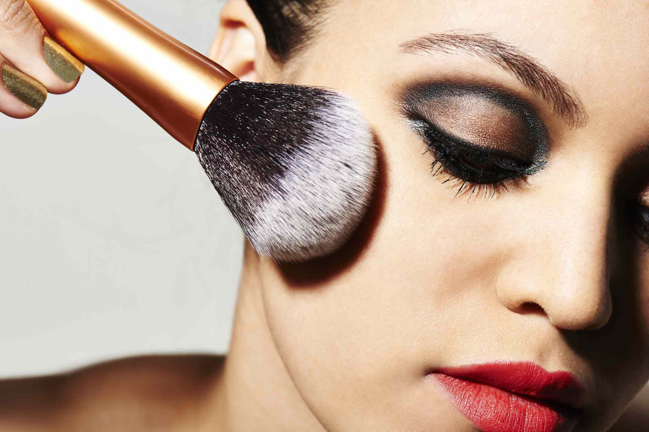 Woman wearing too much make-up