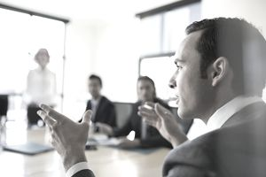 businessman talking in meeting