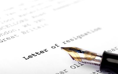 writing resignation letter sample