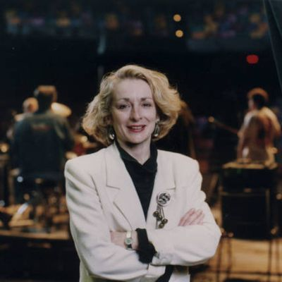 Music Promoter Sue McLean backstage at the Guthrie Theater