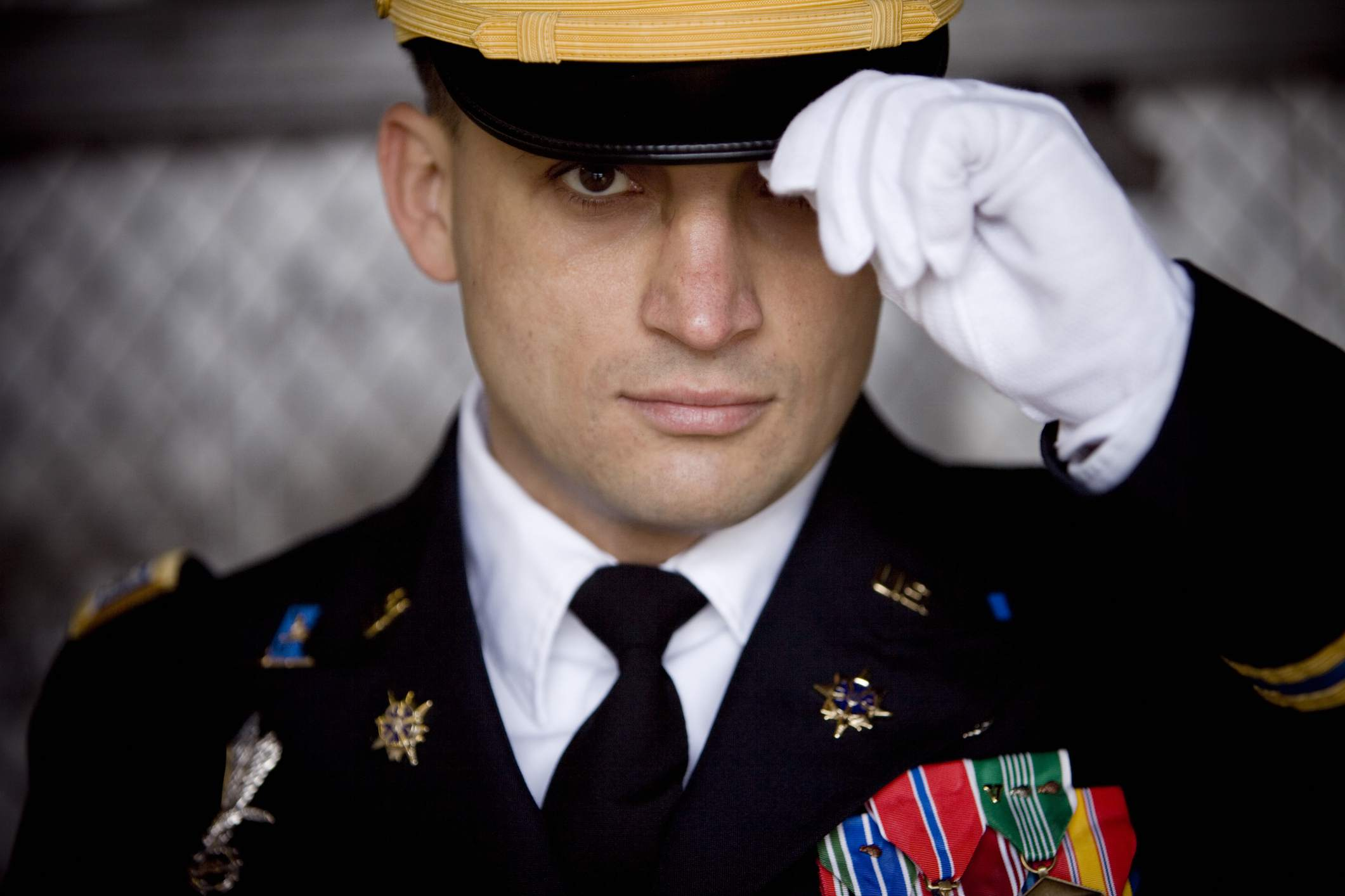 Soldier with medals