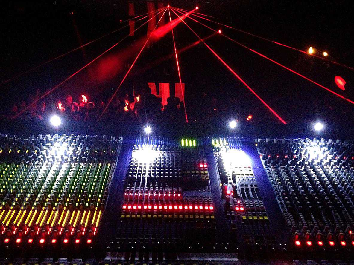 audio switchboard at a music venue