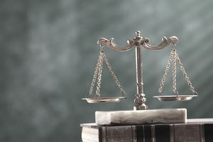Close-Up Of Scales Of Justice