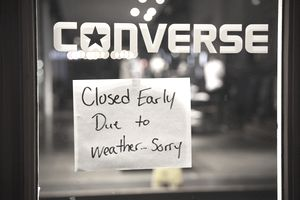 Business closed early due to inclement weather or an emergency