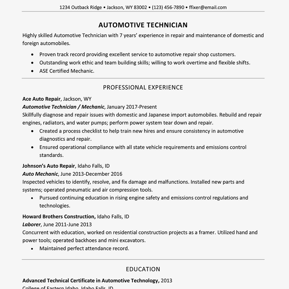 What To Have On A Resume.Guidelines For What To Include In A Resume