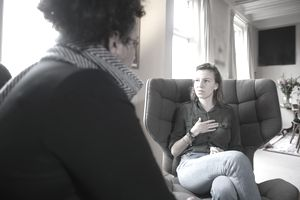 Young woman visiting a counselor
