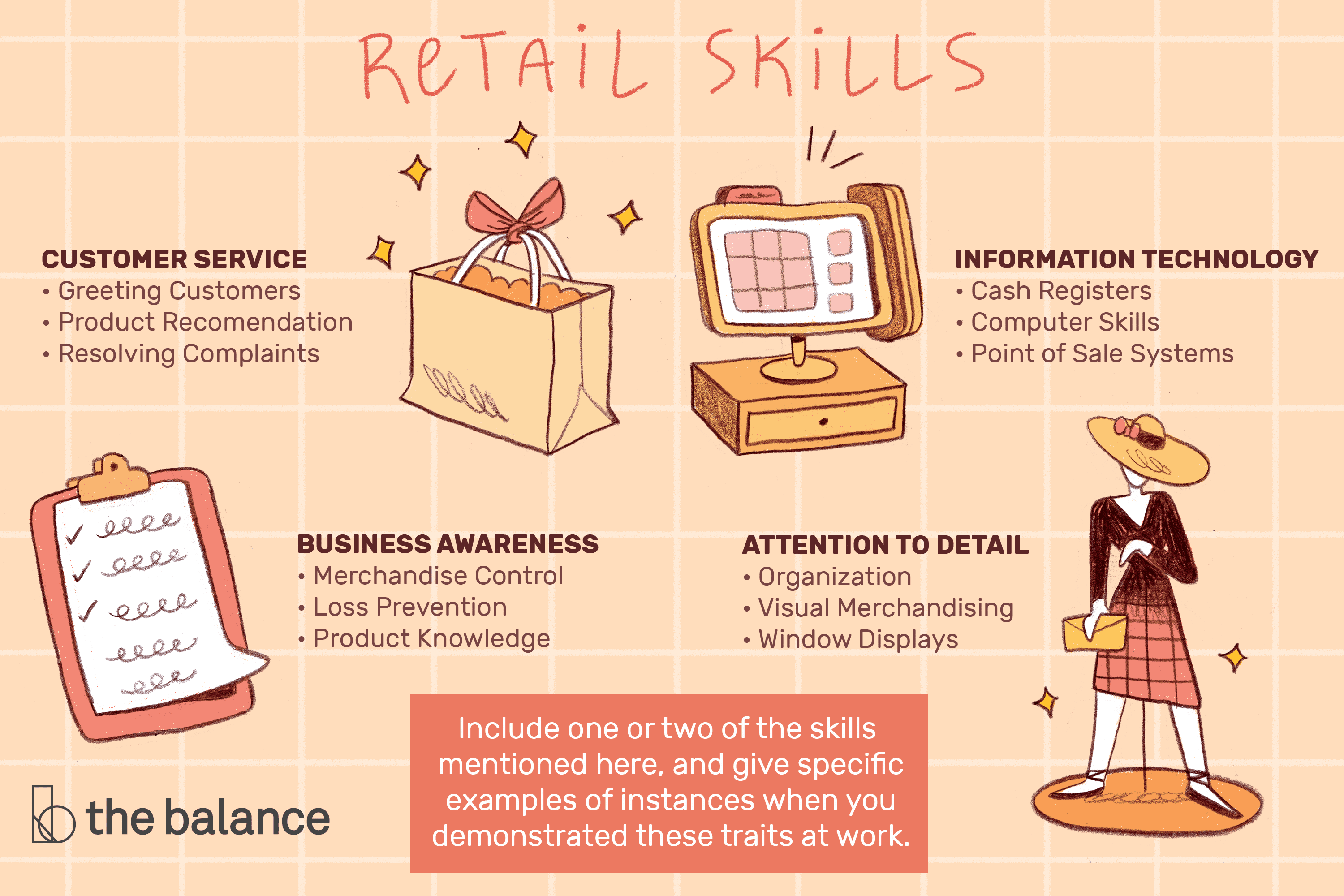 retail skills list and examples