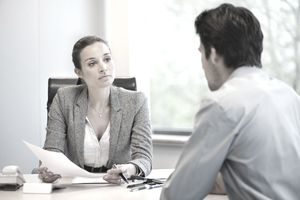 Business executive conducting a behavioral interview.