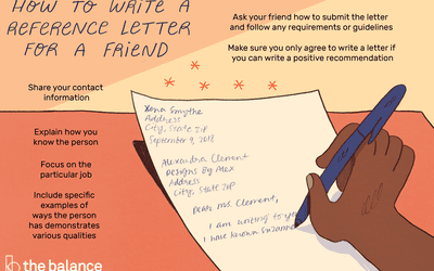 here are some tips on how to write a reference letter for a friend