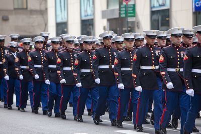Marine Corps Marching in Parade