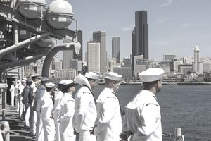 Fleet Week in Elliott Bay, Seattle