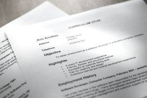 Selective focus shot of a resume