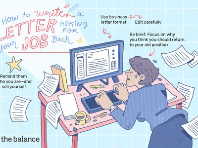This illustration shows how to write a letter asking for your job back including
