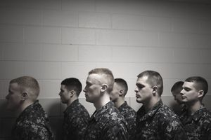 Recruits at Navy Basic Training
