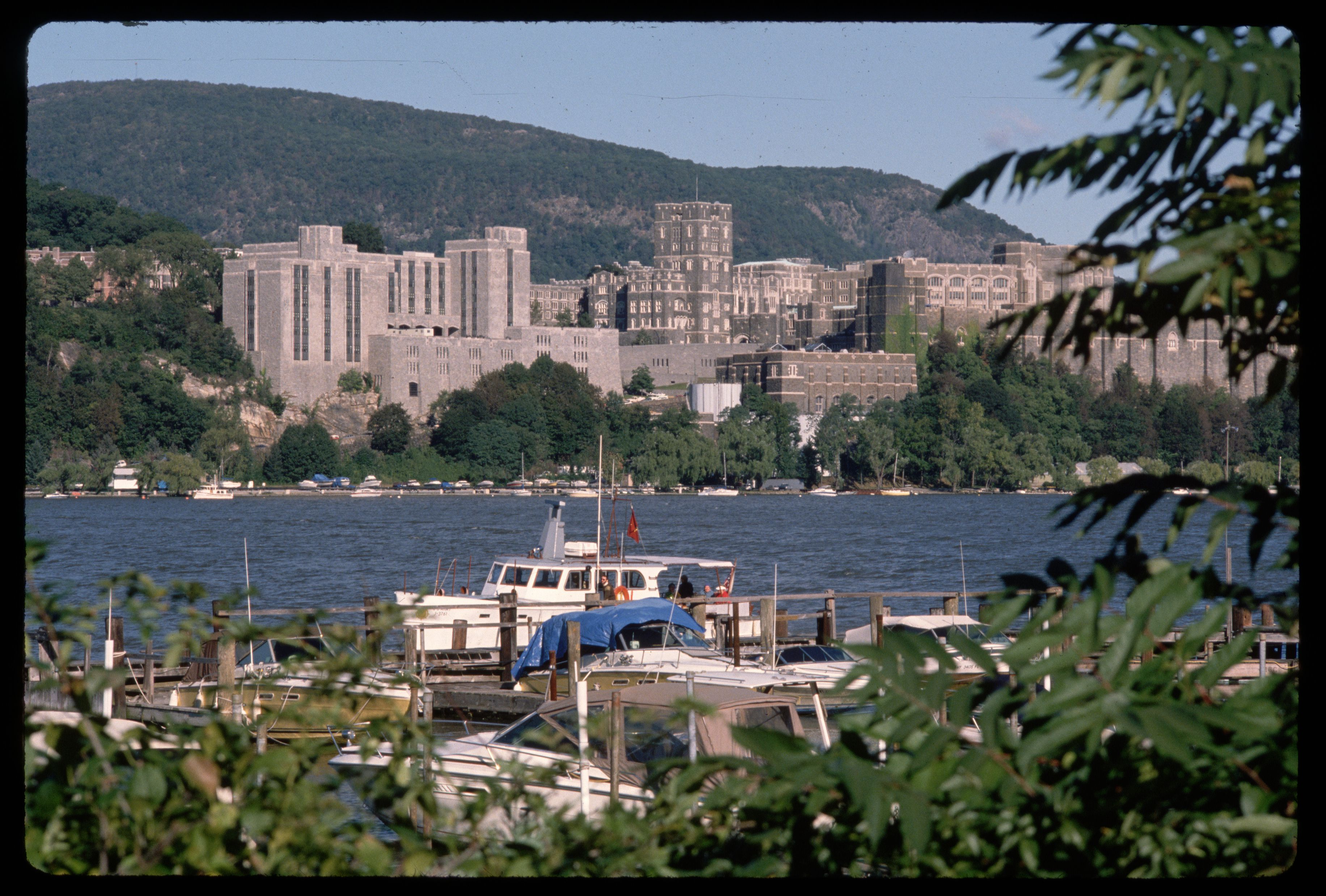 United States Military Academy over Hudson River