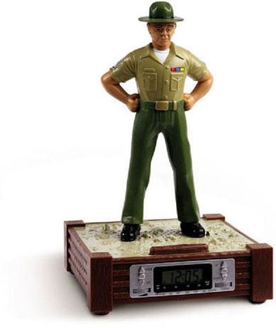 here is a fun gift for a new member graduating boot camp or a newly promoted drill sergeant however real military folks dont need an alarm clock to get