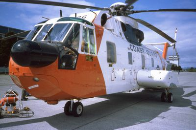 US Coast Guard helicopter, Sitka, AK