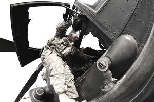 Army AH-64 Apache helicopter pilot in Iraq