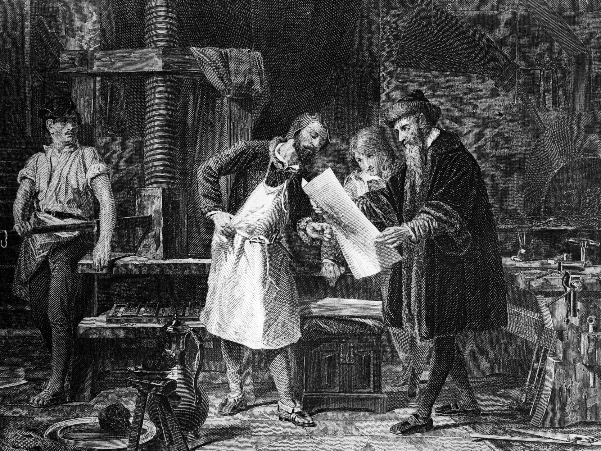 Johann Gutenberg And Invention Of The Printing Press