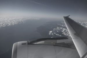 An A320 over New Zealand