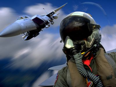 Air Force Pilot and F-15 Eagle