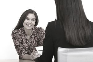 Job interview between businesswomen