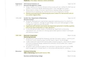 1 Page Resume one resume How To Write A One Page Resume
