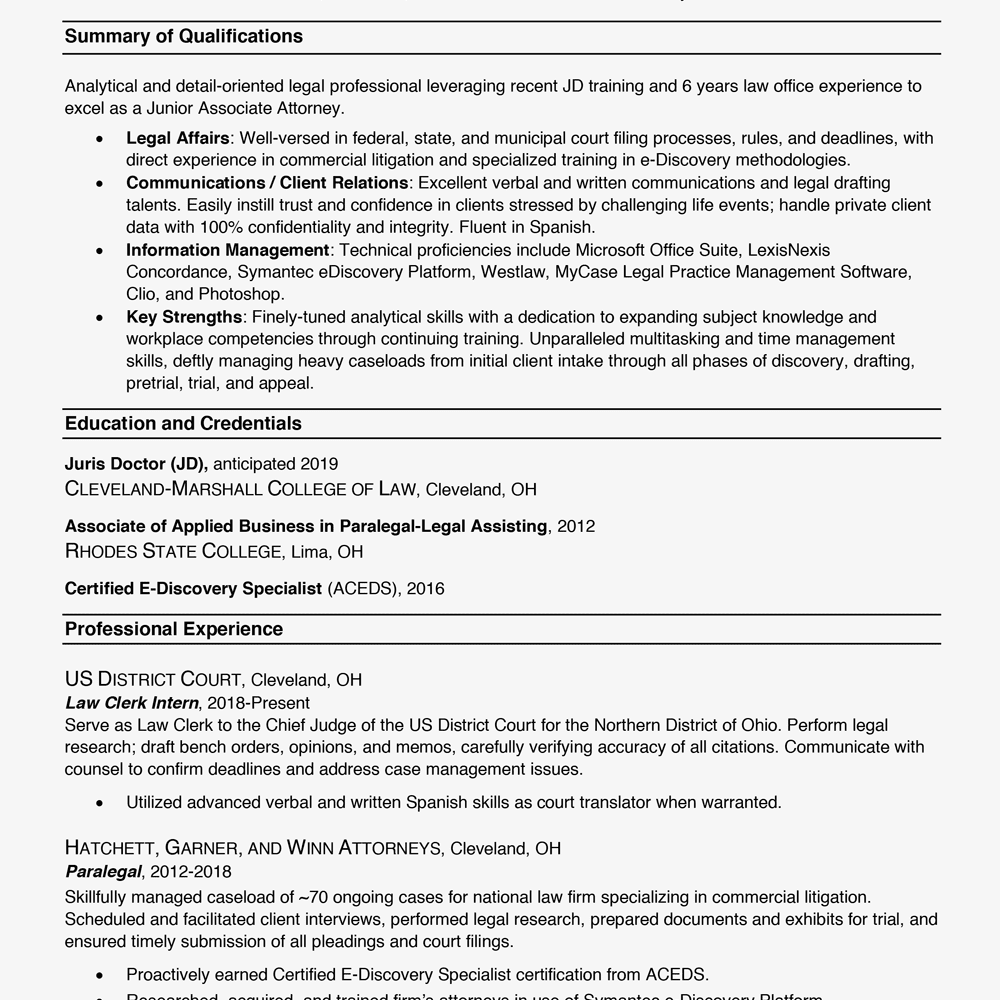 Business Resume Example 2019 19
