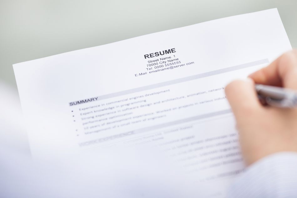 Resume contact section
