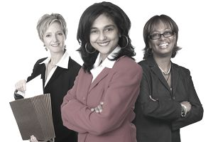 Three female business professionals