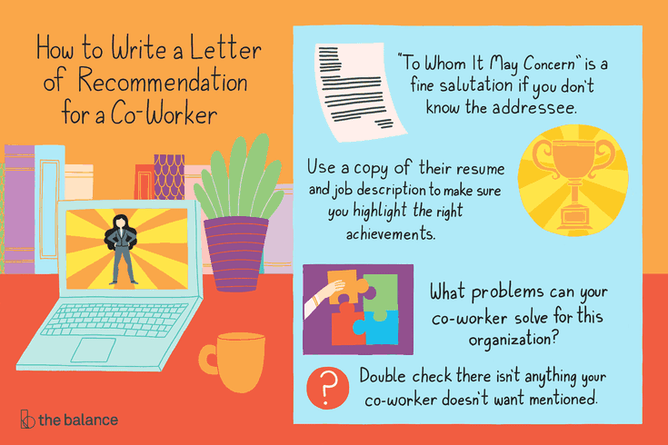 how to write a letter of recommendation for a co worker