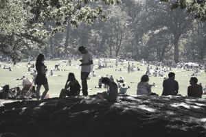 People in Central Park, NY.