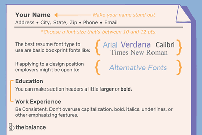 28ba75d8266b05 The Best Font Size and Type for Resumes