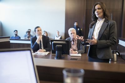 Lawyers in Courtroom