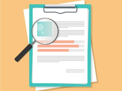 cover letter graphic with magnifying glass