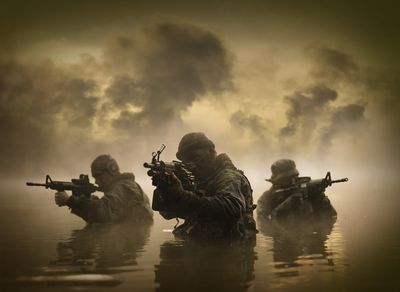 Combat ready special operation forces soldiers.