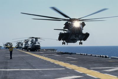 Helicopters Take off
