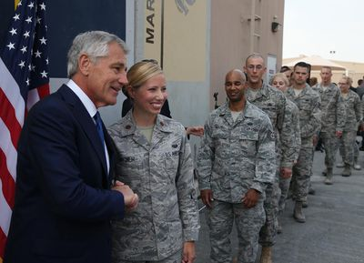 US Defense Secretary Chuck Hagel Embarks On Trip To Middle East