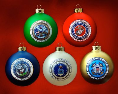 military christmas ornaments
