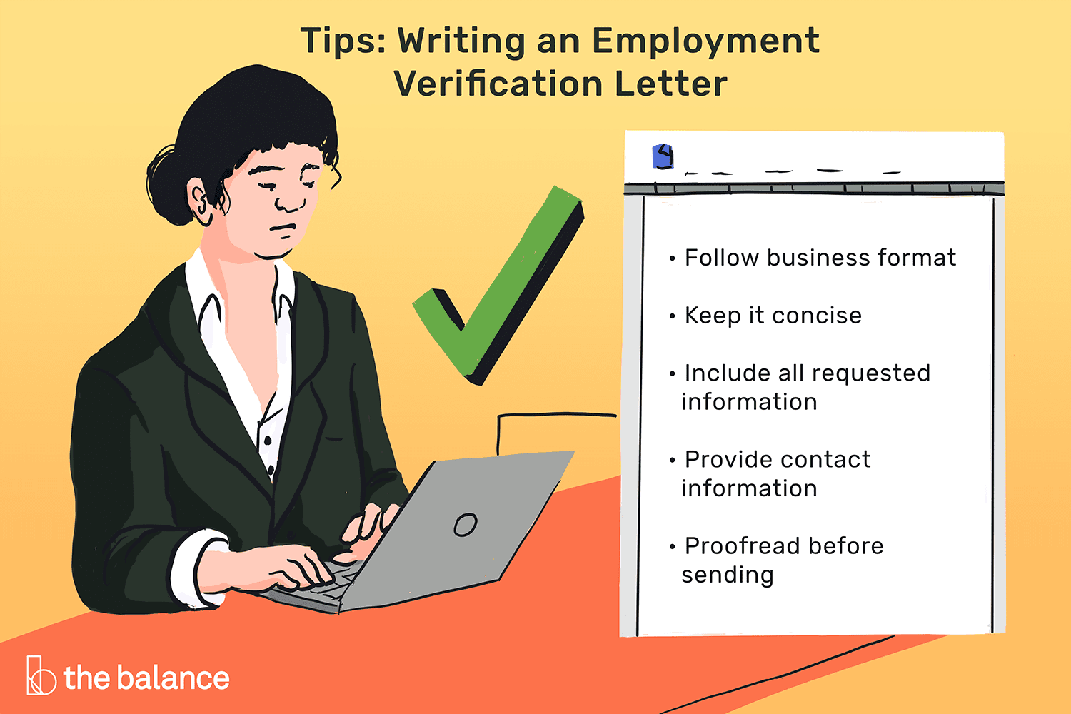 Letter Of Employment Verification Template from www.thebalancecareers.com