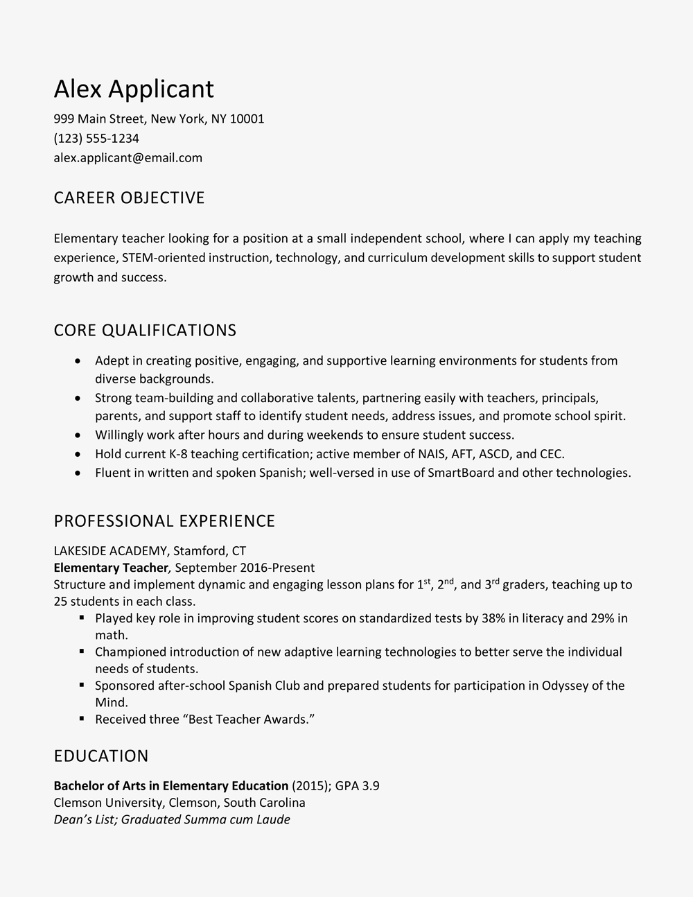 writing an objective in a resume