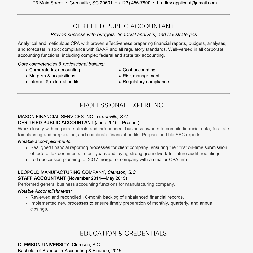accounting  job description  resume  cover letter  skills