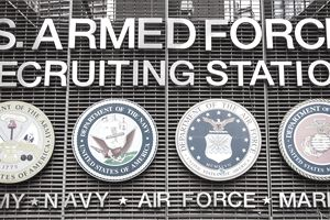 US armed forces recruiting station on Times Square