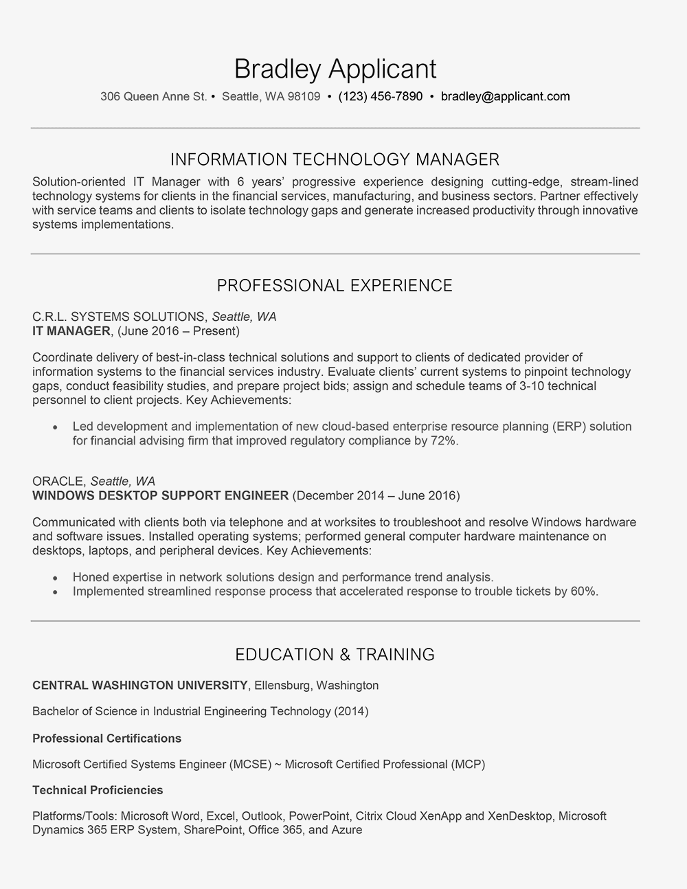 IT Manager: Job Description, Resume, Cover Letter, Skills