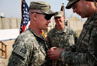 U.S. Army Conducts Promotion Ceremony in Babil Province