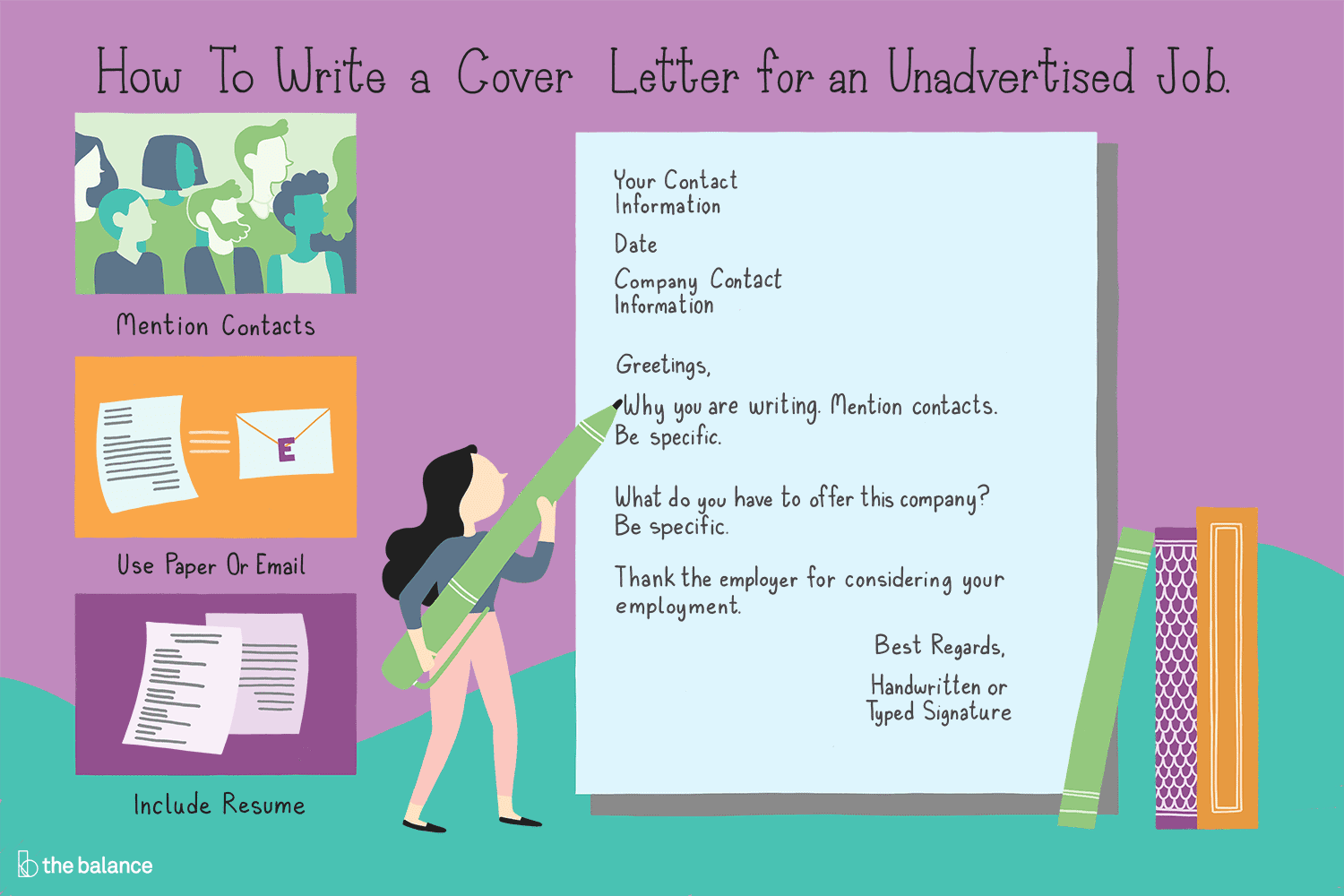 how to write a cover letter for an unadvertised job