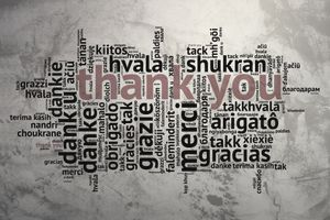 Thank You Word Cloud On Wall
