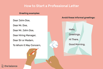 How to start a letter with professional greeting examples m4hsunfo