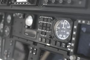 Airspeed indicator on a plane